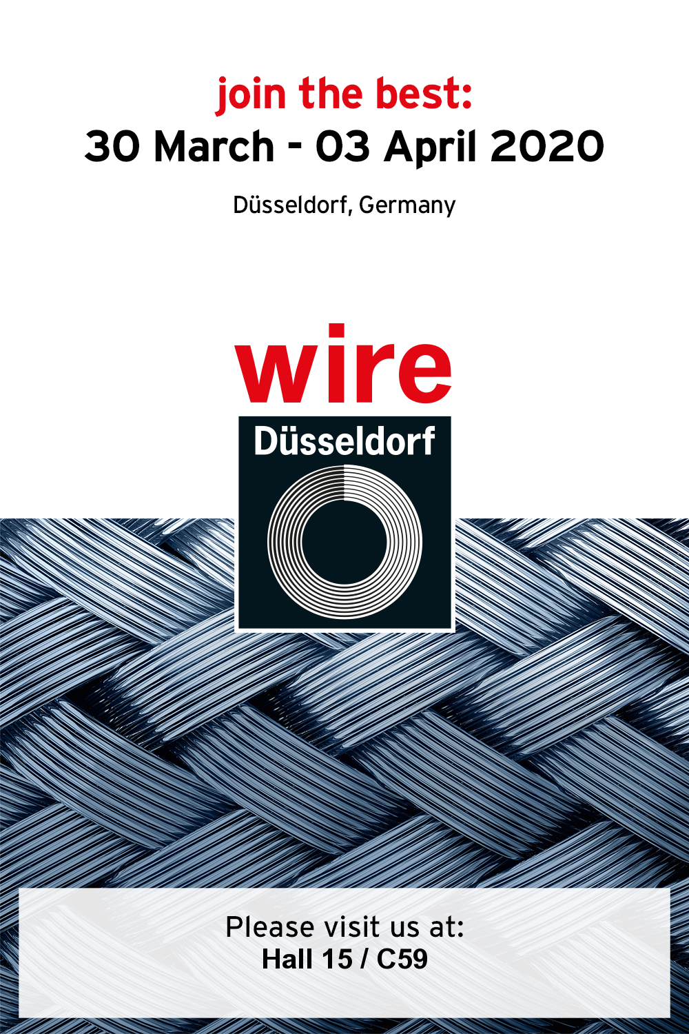 Juli is to attend Wire & Tube 2020 in Dusseldorf.