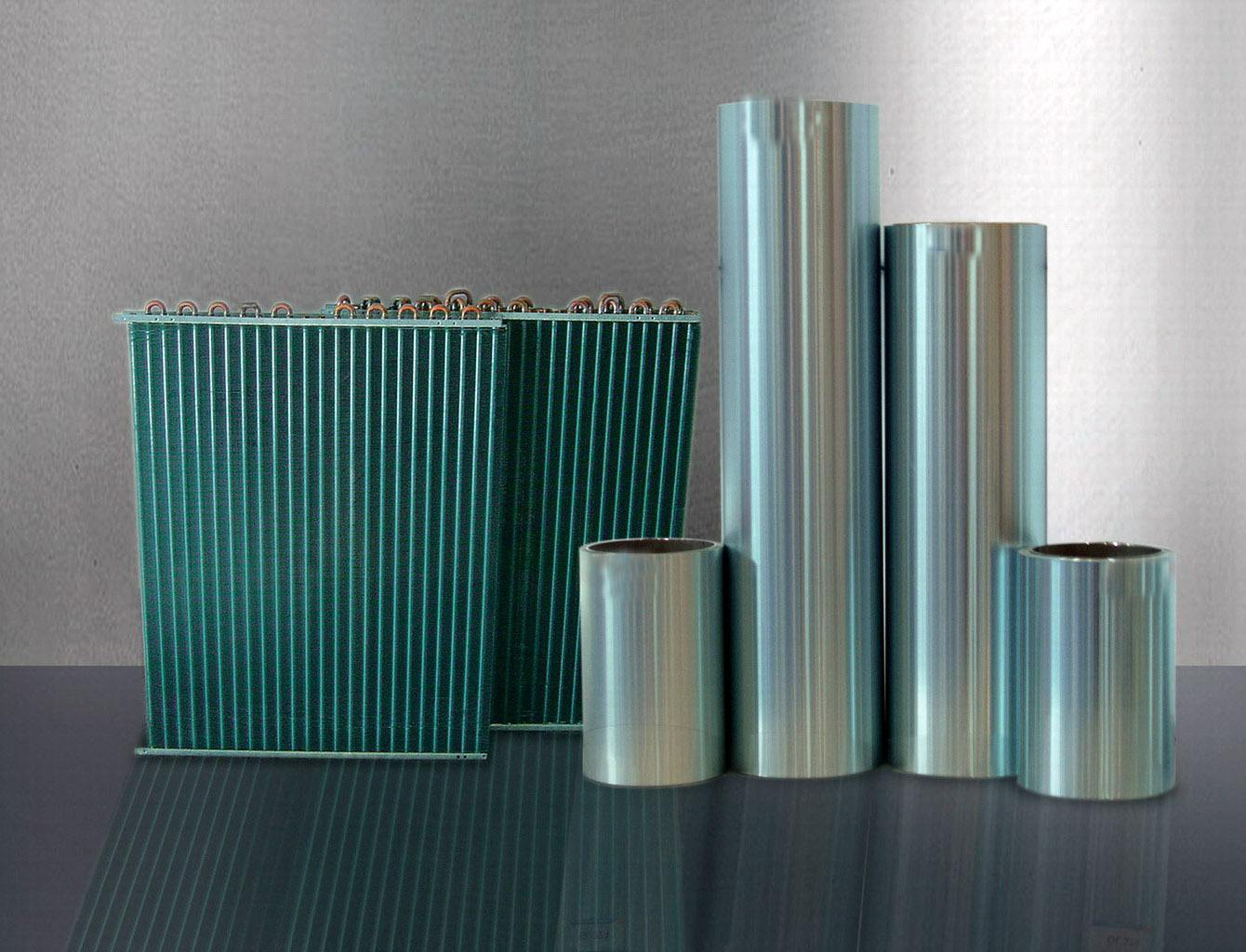 Application of hydrophilic aluminum foil